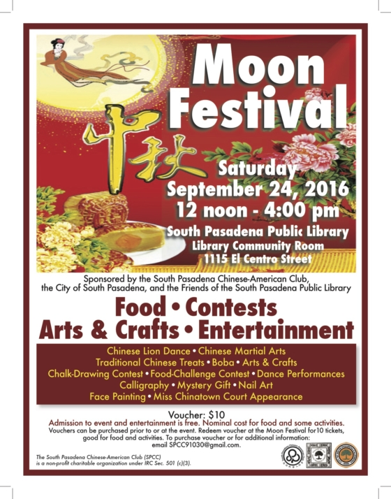 Flyer of the Moon Festival 2016